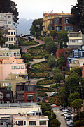 San Francisco Photo Acrylic Prints - Lombard Street Acrylic Print by David Salter