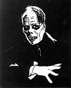 Horror Movies Drawings Framed Prints - Lon Chaney as The Phantom Framed Print by William Beyer