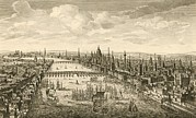 London Central Framed Prints - London And The Thames, 18th Century Framed Print by Miriam And Ira D. Wallach Division Of Art, Prints And Photographsnew York Public Library