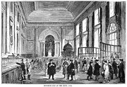1770 Framed Prints - London: Bank, 1770 Framed Print by Granger