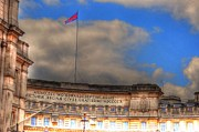 Buckingham Palace Digital Art Metal Prints - London Metal Print by Barry R Jones Jr