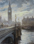 London Painting Originals - London Big Ben by Irek Szelag