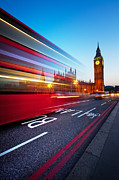 Bus Acrylic Prints - London Big Ben Acrylic Print by Nina Papiorek
