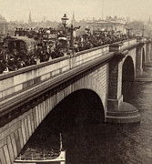 Carriages Posters - London Bridge - England - c 1896 Poster by International  Images