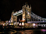 Great Outdoors Paintings - London Bridge at Night by Dean Wittle