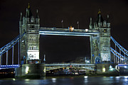 Canadian Photographer Framed Prints - London Bridge at Night Framed Print by Kamil Swiatek