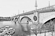 Bay Bridge Mixed Media Metal Prints - London Bridge Lake Havasu City Arizona Metal Print by Christine Till