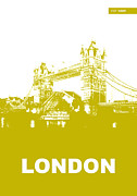 London Skyline Digital Art Prints - London Bridge Poster Print by Irina  March