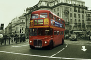 Bus Photo Originals - London bus by Dawid Jaron