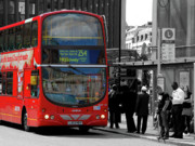 Selective Colouring Prints - London Bus Print by Graham Taylor