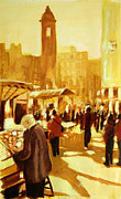 Stalls Paintings - London Camden Market by Paul Mitchell