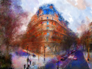 London Congestion Framed Prints - London Central Framed Print by Marilyn Sholin