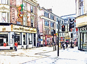 Great Britain Digital Art - London China Town by Yury Malkov