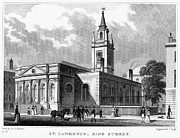 Saint Christopher Photo Prints - LONDON: CHURCH, c1830 Print by Granger