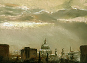 London England  Pastels - London City Dawn 2 by Paul Mitchell
