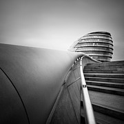 Hall Acrylic Prints - London City Hall Acrylic Print by Nina Papiorek