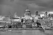 Greyscale Prints - London cityscape Print by Gary Eason