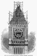 Westminster Palace Photos - London: Clock Tower, 1856 by Granger