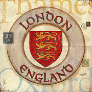 Cities Painting Posters - London Coat of Arms Poster by Debbie DeWitt