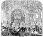 Band Organ Framed Prints - London: Concert Hall, 1858 Framed Print by Granger