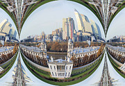 Royal Naval College Metal Prints - London Docklands bubble Metal Print by Ruth Hallam