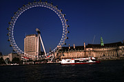 London Pyrography Prints - London Eye Print by Afroz Sheikh