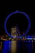 Rotate Framed Prints - London Eye and River Thames View Framed Print by David Pyatt
