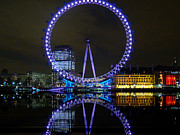 Okotoks Framed Prints - London Eye At Night Framed Print by Al Bourassa