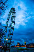 St.patricks Day Framed Prints - London Eye at Westminster Framed Print by Dawn OConnor
