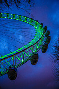 St.patricks Day Framed Prints - London Eye Framed Print by Dawn OConnor