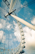 England Posters - London Eye Ferris Wheel Poster by Andy Smy