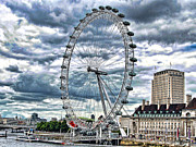 Wheel Framed Prints Posters - London Eye Poster by Graham Taylor