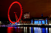 London Eye Prints - London Eye Print by Heather Applegate