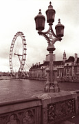 London Eye Print by Kathy Yates