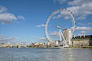 Ferris Wheel Prints - London Eye Print by Paul Biris