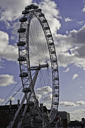London Eye River Cruise Posters - London Eye Poster by Sebastian Condrea