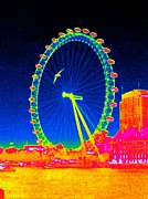 Thermography Framed Prints - London Eye, Thermogram Framed Print by Tony Mcconnell