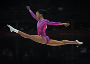 Gabby Douglas Prints - London Gold Print by Danniel Gaitor