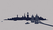 London Skyline Digital Art Prints - London, Great Britain Print by Ralf Hiemisch