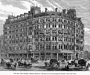 Charing Cross Framed Prints - London: Hotel, 1880 Framed Print by Granger