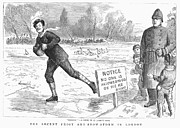 Ice-skating Posters - London: Ice Skating, 1886 Poster by Granger