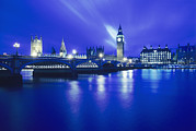 Palace Of Westminster Prints - London Landmarks Print by Carlos Dominguez