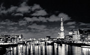 Lenny Carter Framed Prints - London Lights at Night Framed Print by Lenny Carter