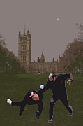 Martial Arts Prints - London Matrix Martial arts Smith Print by Jasna Buncic