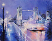 London Night Print by Nelya Shenklyarska