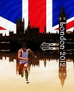 2012 Digital Art - London Olympics by Sharon Lisa Clarke