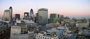 Financial  District Framed Prints - London Panorama From The Monument Framed Print by Romeo Reidl