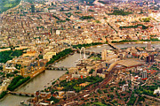 London Structure Prints - London-panorama Print by Katarina Stefanovic