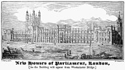 Westminster Palace Photos - London: Parliament, 1834 by Granger