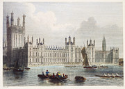 19th Century Architecture Prints - LONDON: PARLIAMENT, 19th C Print by Granger